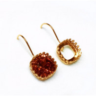 12mm 4470 Swarovski Kidney Wire Earrings