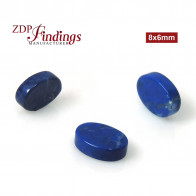 Lapis Flat Oval 8x6mm
