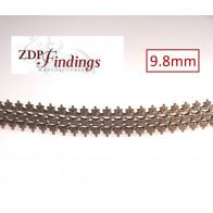 24 Inch (61cm) x 9.8mm Width Brass Strip Gallery Decorative Filigree Pattern Wire