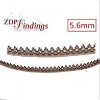 24 Inch (61cm) x 5.6mm Width Brass Strip Gallery Decorative Filigree Pattern Wire
