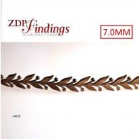 24 Inch (61cm) x 7mm Width Brass Strip Gallery Decorative Filigree Pattern Wire