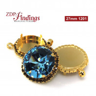 Round 27mm Pendant fit Swarovski 1201