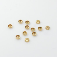 3mm Round Gold Filled Bezel Cup