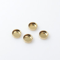 6mm Round Gold Filled Bezel Cup