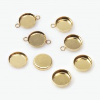 8mm Round Gold Filled Bezel Cup
