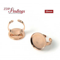 Round 20mm Adjustable Ring Setting