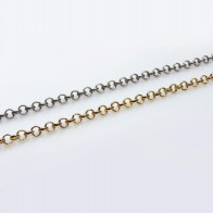 1Meter Round Links 6mm Heavy Rolo Brass Chain