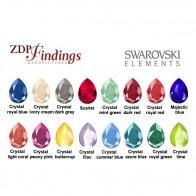 Pear 14x10mm Tear Drop Swarovski® Crystals 4320