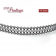 15.3mm Brass Gallery Pattern Wire, 24 inch