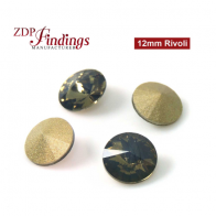 CRAZY SALE !! Round 12mm Rivoli Suitable European Crystals 1122. White Opal Volcano Czech Crystals