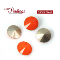 CRAZY SALE !! Round 14mm Rivoli Suitable European Crystals 1122. Opaque Red Czech Crystals