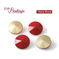 CRAZY SALE !! Round 14mm Rivoli Suitable European Crystals 1122. Czech Red Crystals