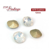 CRAZY SALE Square Cushion 12mm White Opal Suitable for Swarovski 4470 settings
