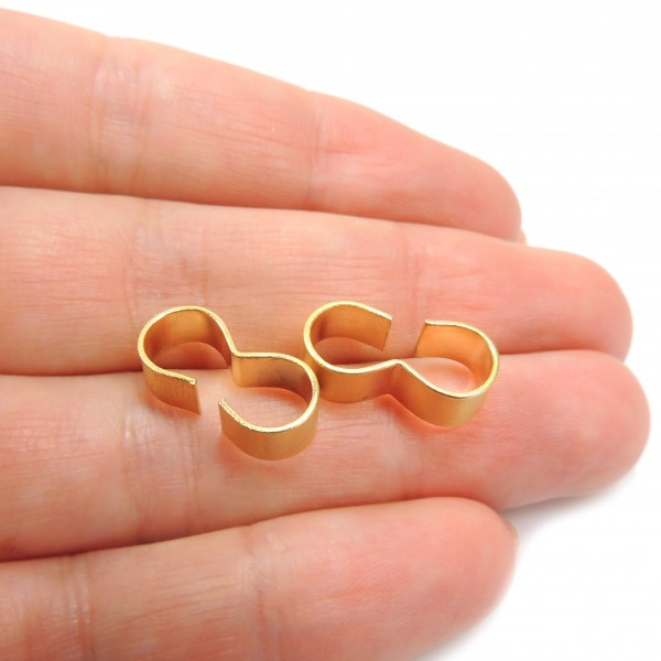 16x5mm Gold Beads for Connecting 6mm Cords