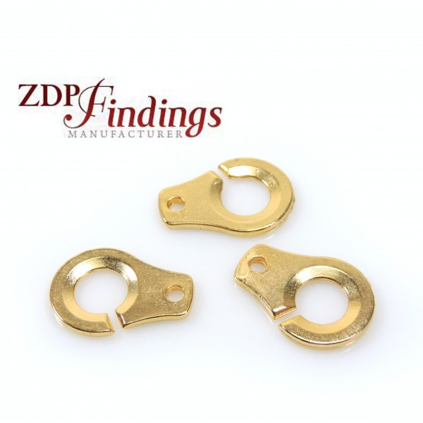 16x12mm Decorated Casting Gold ends clasp