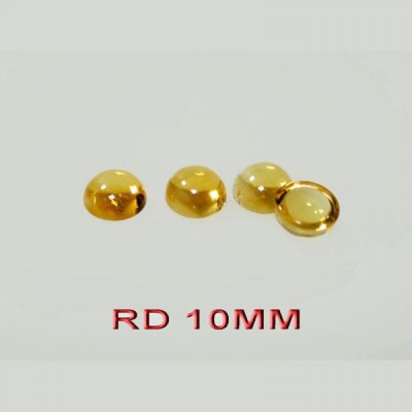 Citrine Round  Cabochon, Choose your size.