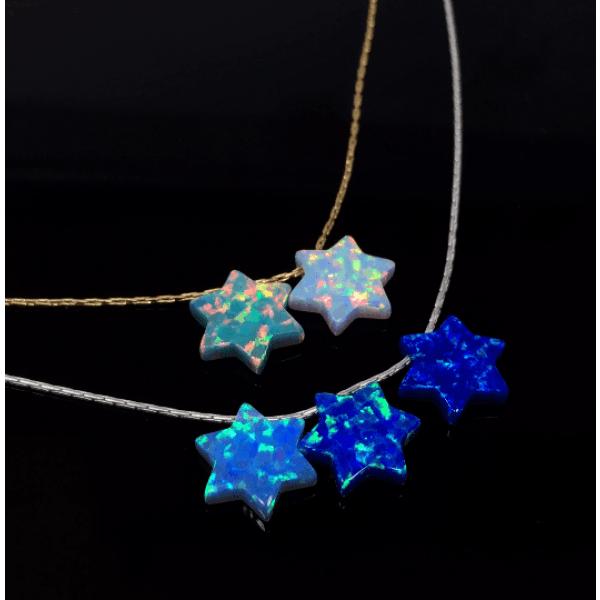 10mm Opal Star of David Bead Pendant Gem