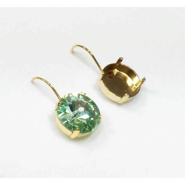 14mm 1122 Swarovski Kidney Wire Earrings, Choose your options