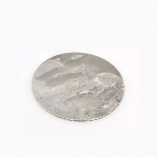 30mm Round Antique Silver Discs