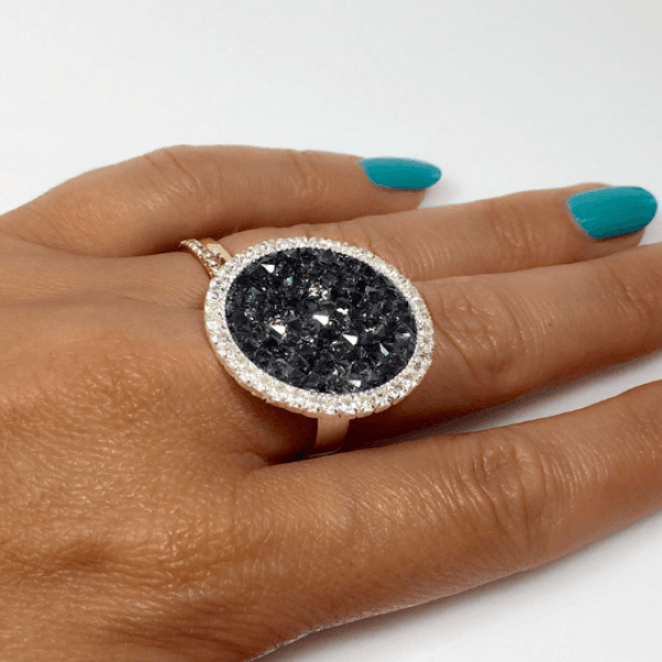 Round 24mm Bezel Rhinestone Ring Settings