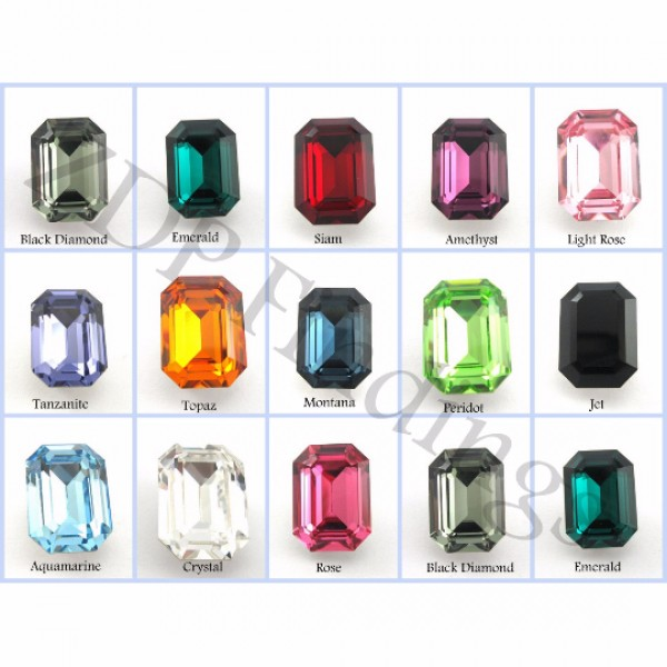14x10mm 4610 Swarovski Octagon  , Choose your color