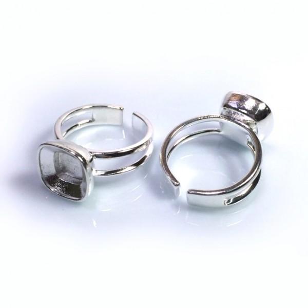 10mm 4470 Ring Base, Shiny Silver