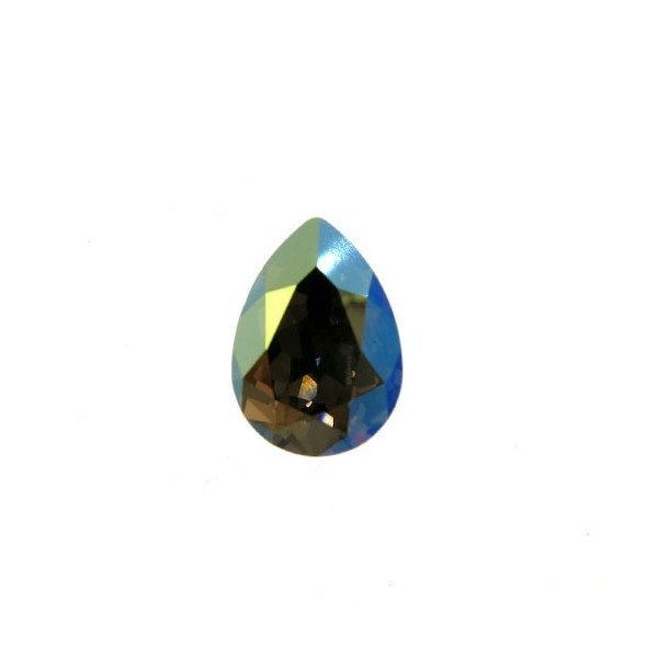 14x10mm 4320 Swarovski Pear Iridescent Green