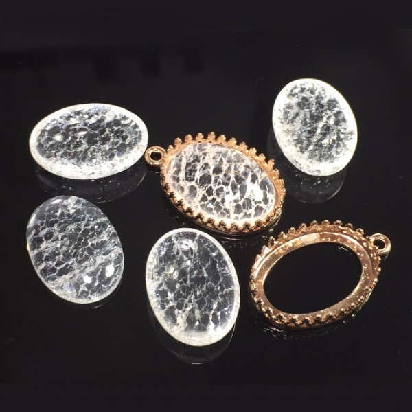 Oval Cabochon Ice Clear Crystal Quartz Gemstone
