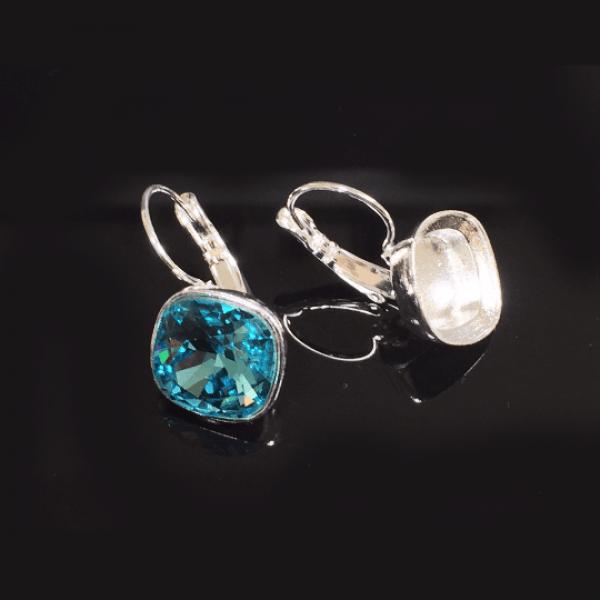 Square 10mm Bezel Earring Fit Swarovski 4470