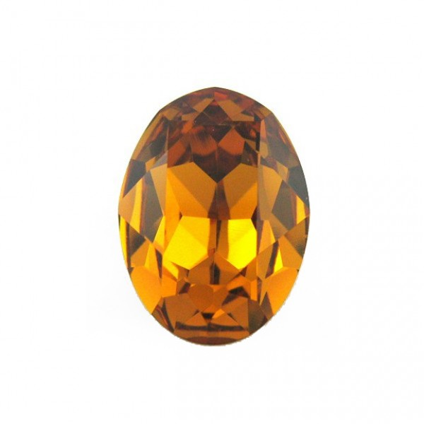 Oval Swarovski 14x10mm 4120 Light Colorado topaz
