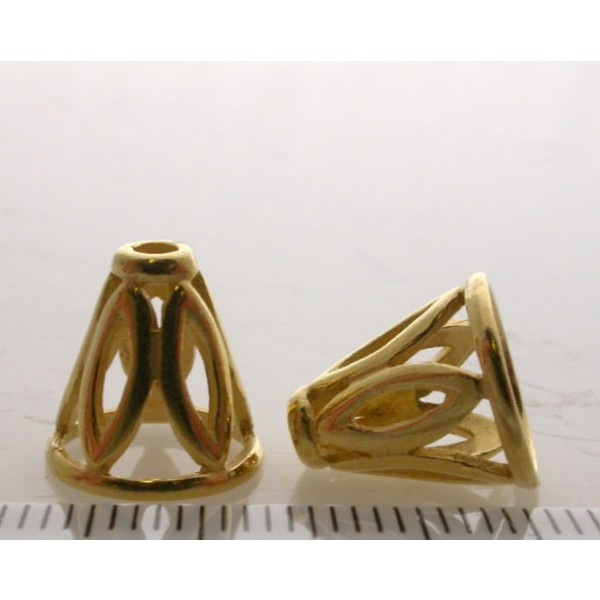 11.5x8.8mm Shiny Gold Cones