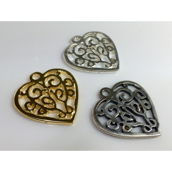 40x35mm Heart Pendant