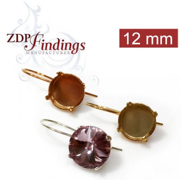 12mm 1122 Swarovski Kidney Wire Earrings, Choose your options