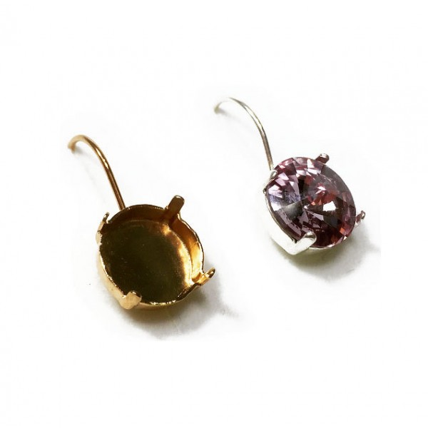 12mm 1122 Swarovski Kidney Wire Earrings, Choose your options