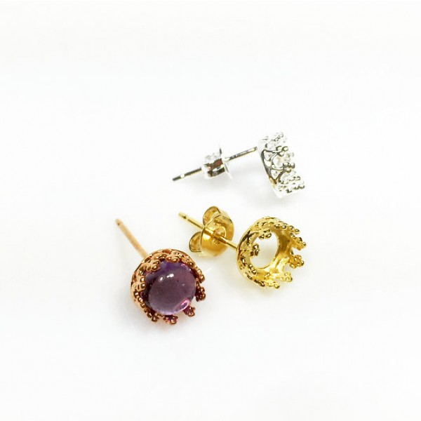 6mm Post Earring, Choose your finish.