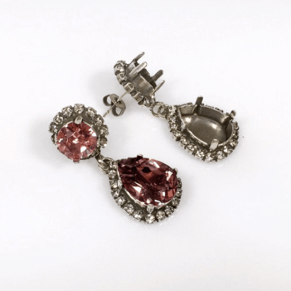 14x10mm 4320 Swarovski Post Rhinestone Earrings