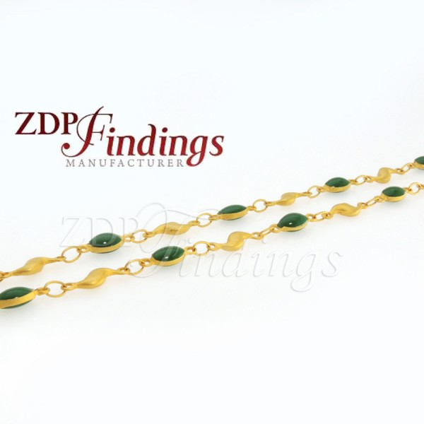 4mm Green-color Oval beads, Rosary Chain