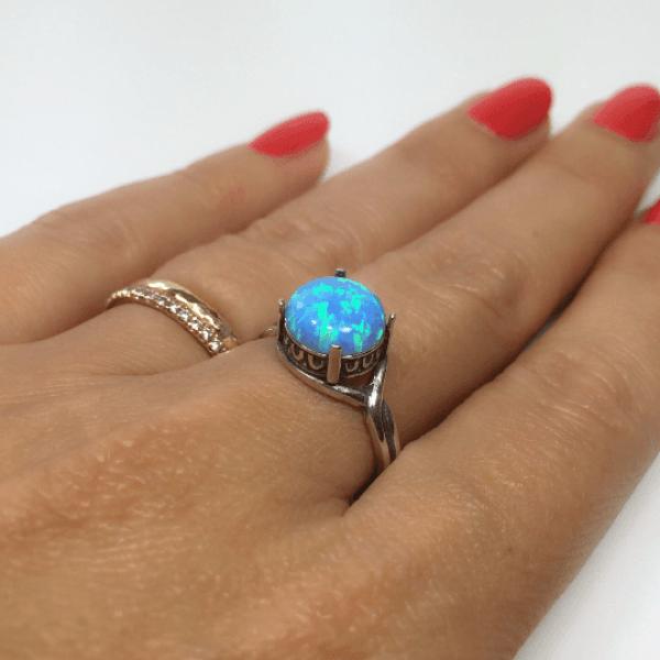 10mm Round Ring Base Shiny Silver