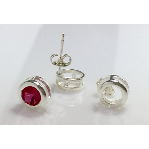 6mm Post Earring, Shiny Silver