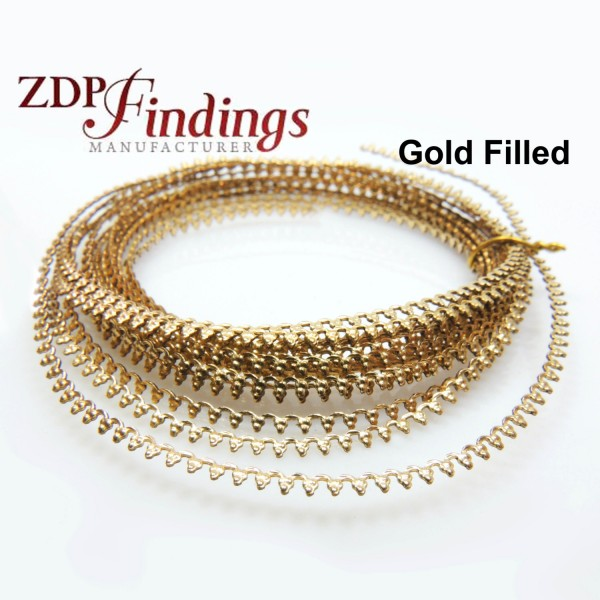 Gold Filled Pattern Wire, 12  inch