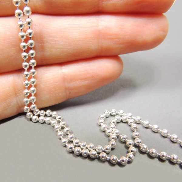 2.30mm Sterling Silver Ball Chain