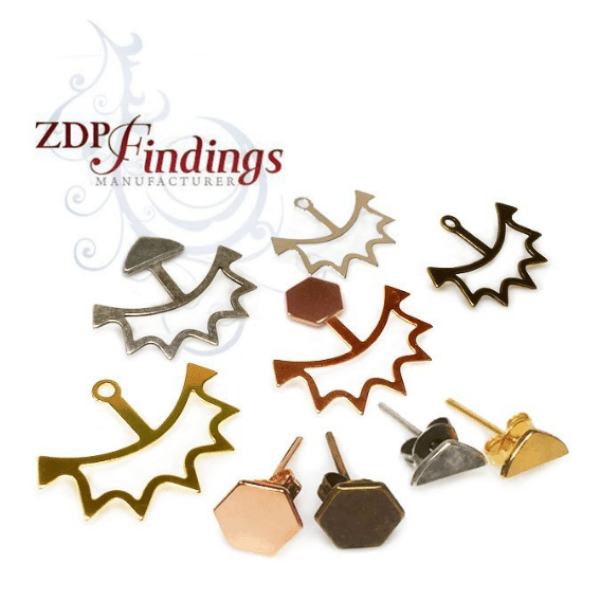 Unique Modern Minimalist Fashion Back Stud Earrings
