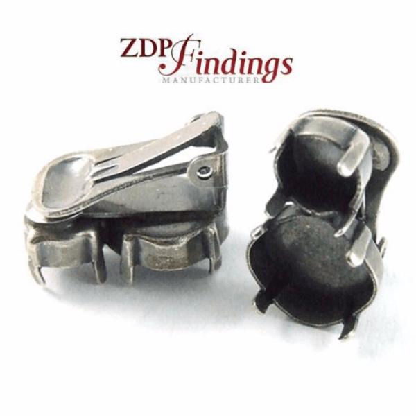 Clip on Earrings Setting Fit Swarovski 4470 12mm / SS39