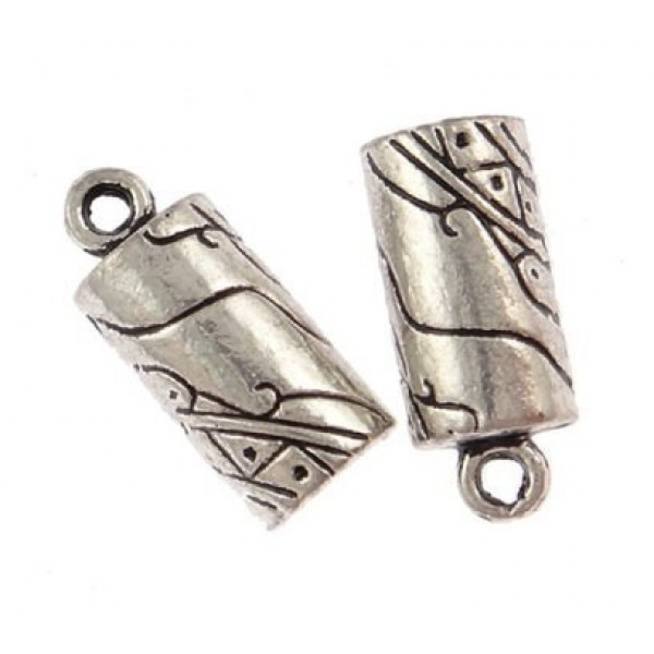 5.50mm Hole Antique Silver End Cap