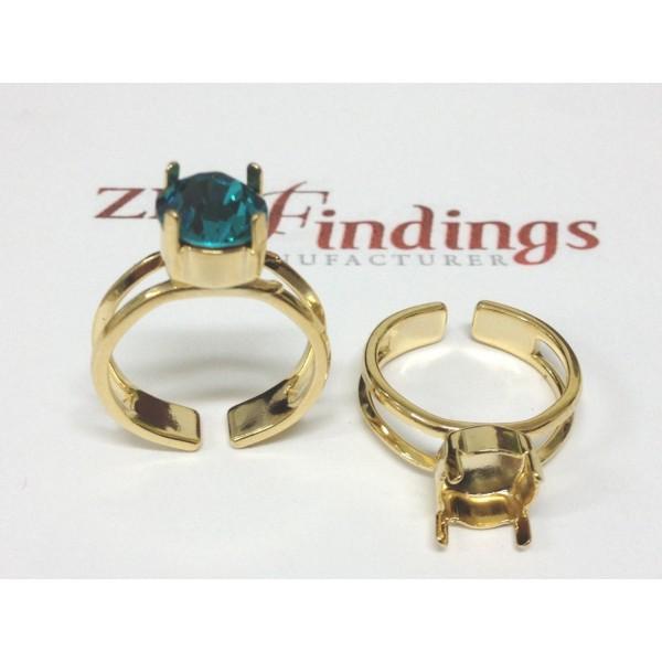 ss34 1028/1088 Ring Base, Shiny Gold