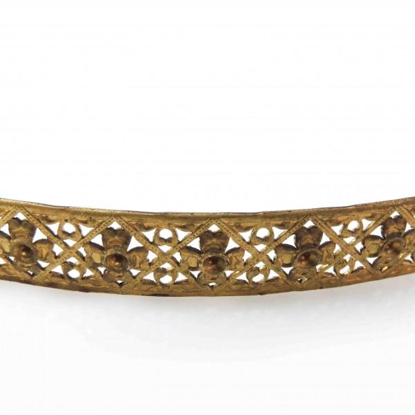 14mm Width Brass Gallery Pattern Wire, 24 inch