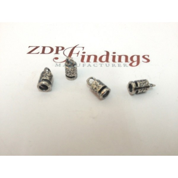 3.00mm Hole Antique Silver End Cap