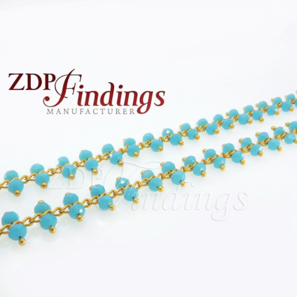 3.5mm Turquoise Rosary Chain