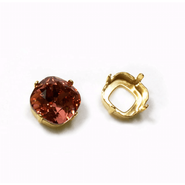 12mm Square Post Earring fit Swarovski 4470