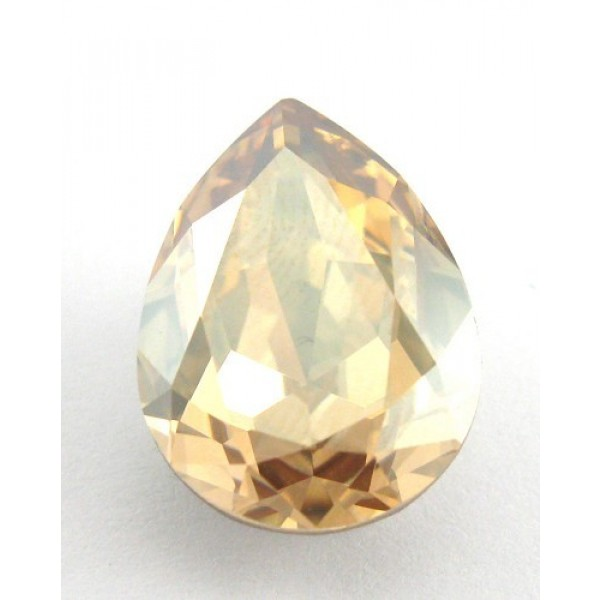 18x13mm 4320 Swarovski Pear Golden Shadow